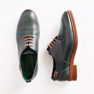 Pikolinos Leather Blue Oxford Shoes 38